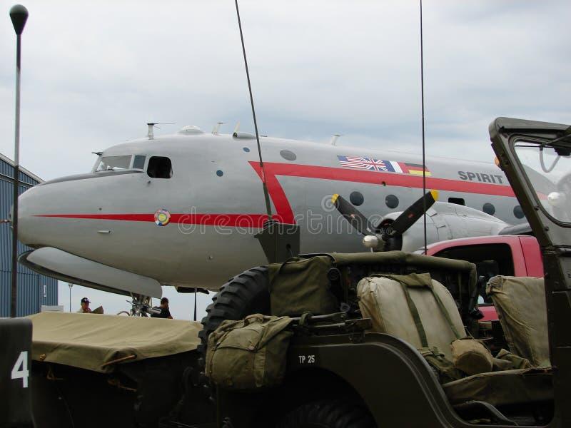 Spirito storico di Berlin Airlift Douglas C-54 Skymaster di libertà immagine stock