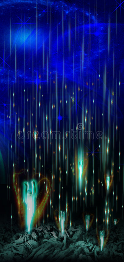 Download Spirits stock illustration. Image of souls, spirits, light - 5366754