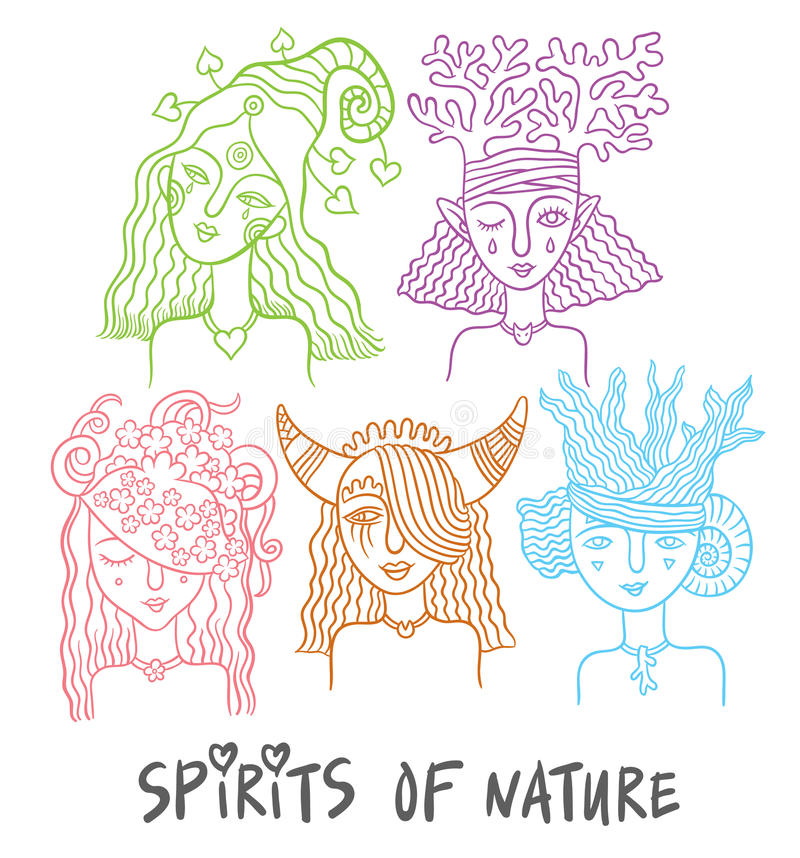 The spirits of nature vector illustration