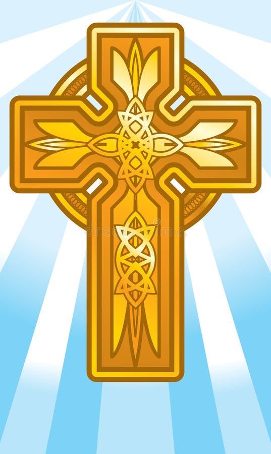 Download Spiritual stock vector. Image of spiritual, cross, gold - 2032396