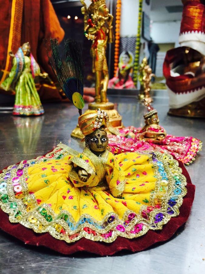 Spiritual di janamashtami del tempio di celebrazione del dio di Krishna fotografie stock libere da diritti