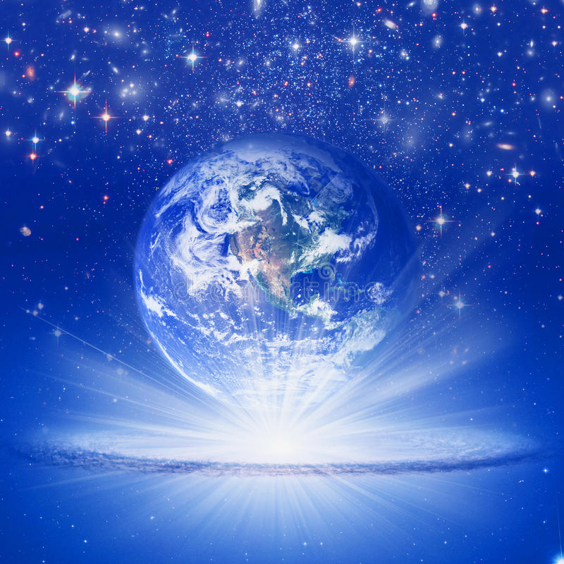 Spiritual Earth vector illustration