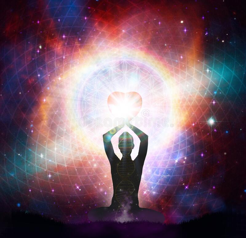 Free Spiritual Energy Healing Power, Connection, Conscience Awakening, Meditation, Expansion Stock Photography - 190856072
