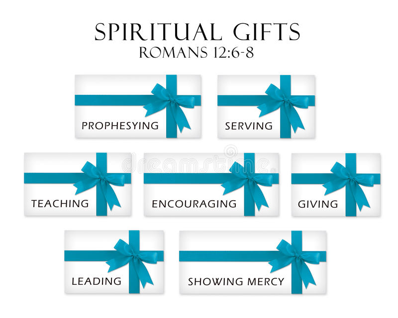 Spiritual Gifts. Gifts representing the gifts of the Holy Spirit vector illustration