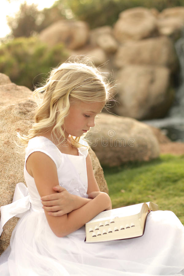 Spiritual Girl stock image