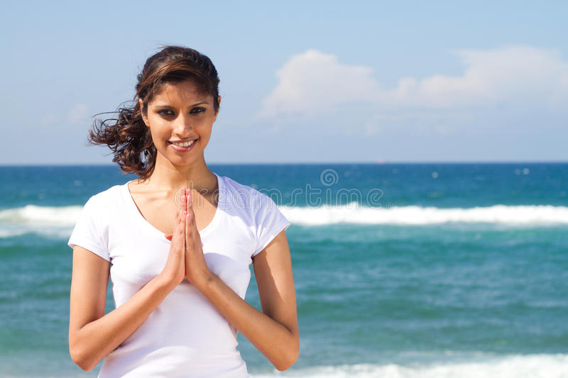 Download Spiritual indian woman stock photo. Image of beauty, nature - 14526644
