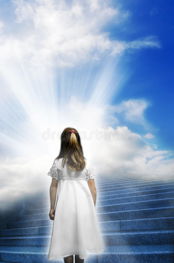 Spiritual journey stock photography