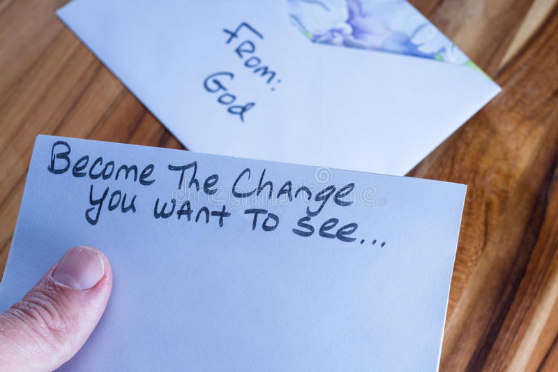 Spiritual message in the mail stock photos