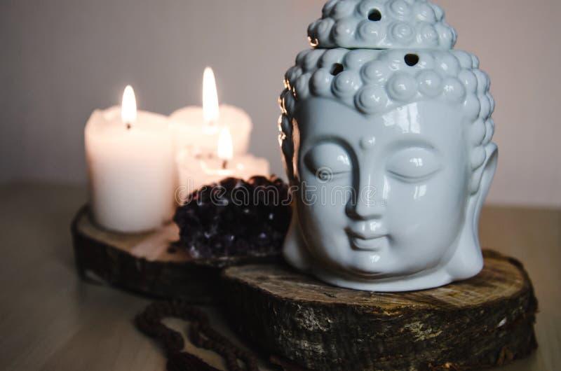 Spiritual Ritual Meditation Face Of Buddha Ametist Candles ...