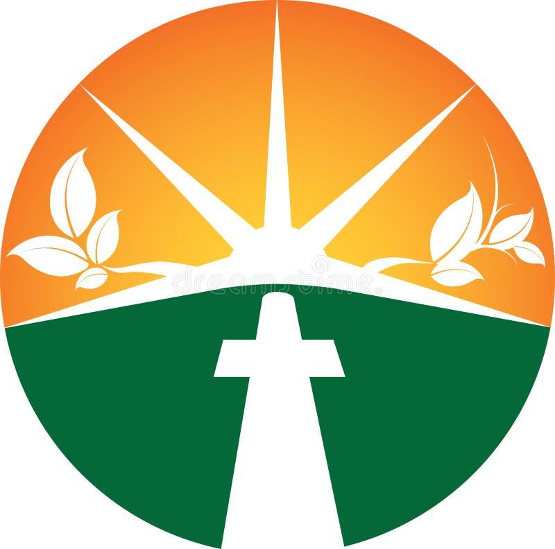 Spiritual Symbol. A spiritual Christian Sunset Symbol royalty free illustration