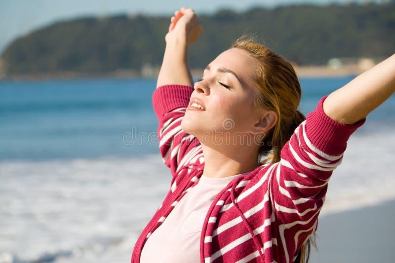Spiritual woman stock image