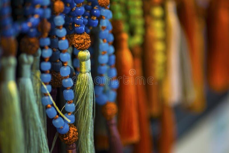 Spiritualité de chant religieux de perles de prière image stock