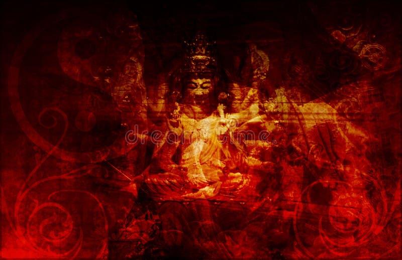 spiritualité de salut illustration de vecteur