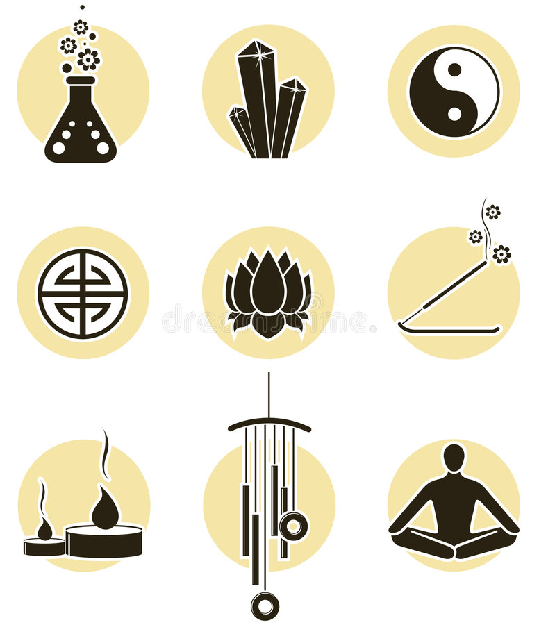Download Spirituality icon set stock vector. Image of icons, products - 5064438