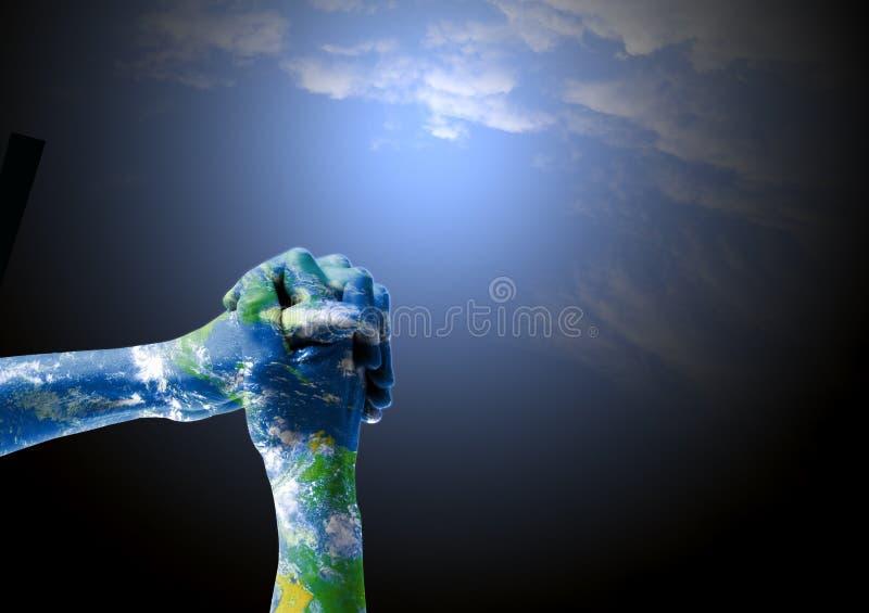 Spirituallity ed empatia per terra immagini stock libere da diritti