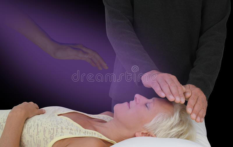 Spiritually Assisted Healing Session stock photos