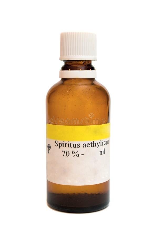 spiritus бутылки aethylicus стоковое изображение