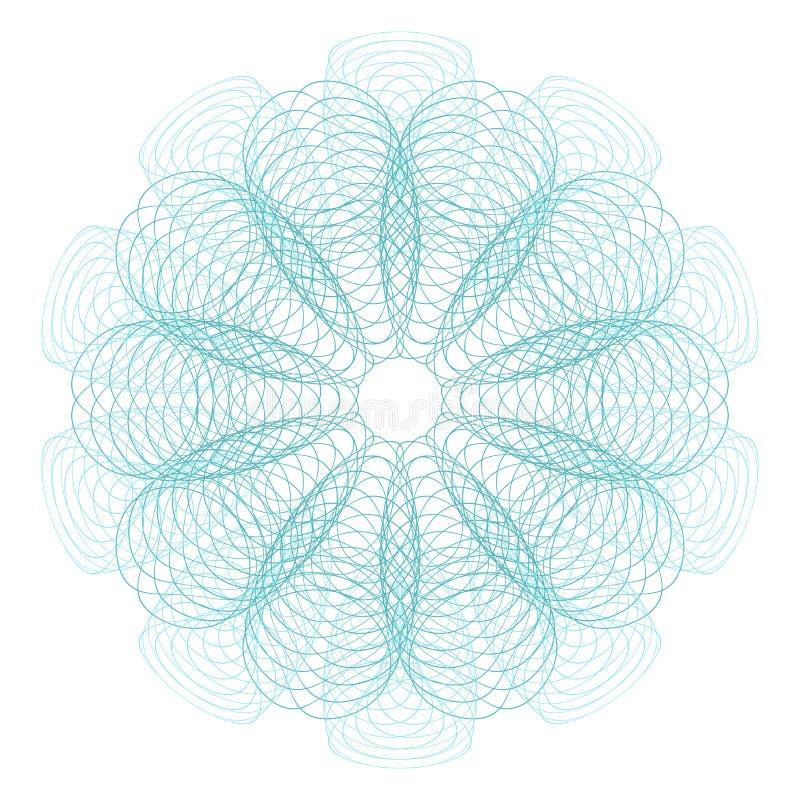 Spirografu wzór dla Gemowego pieniądze lub Innych ochrona papierów - Wektorowa ilustracja Cyfrowego watermark zdjęcia stock