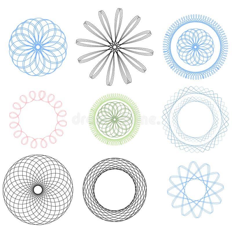 SpirographElements illustration de vecteur
