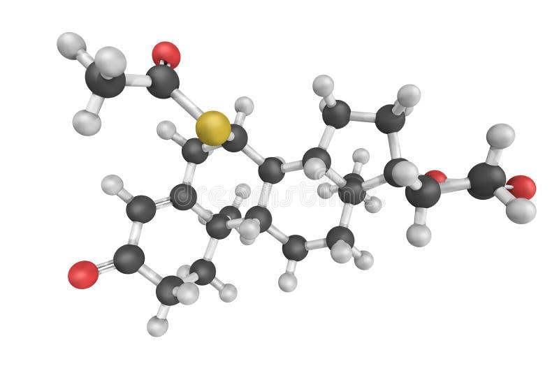 Spironolactone, een medicijn dat hoofdzakelijk wordt gebruikt om griep te behandelen stock fotografie
