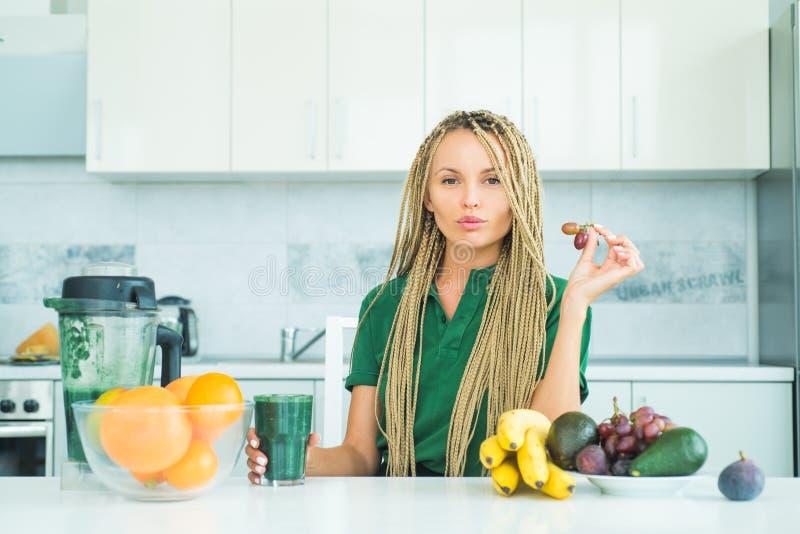 Spirulina for weight loss. Vegan vegetarian vegetable concept. Healthy diet smoothie breakfast food. Fitness diet stock photo