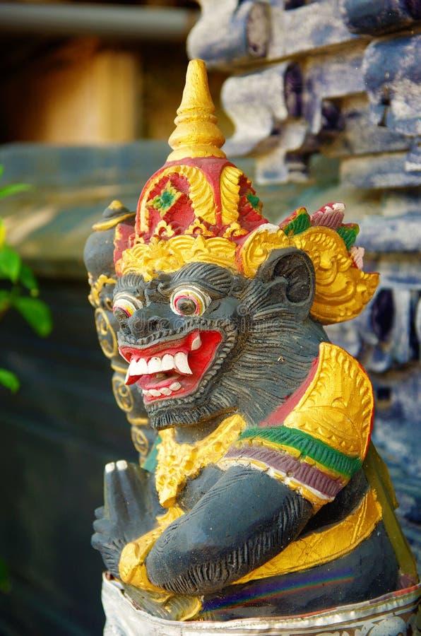 Spirytusowa postać przy balijczyk świątynią zdjęcia royalty free