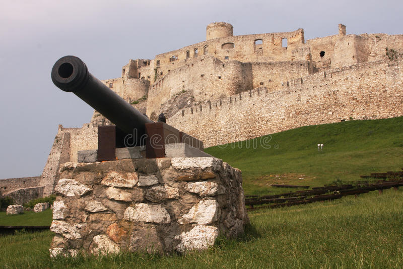 Spis castle royalty free stock photos