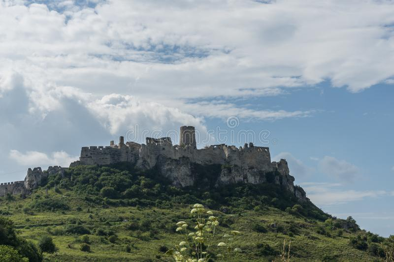 Spis Castle, Slovakia. Ruins of Spis Castle in Slovakia, ancient, heritage, historical, site stock images