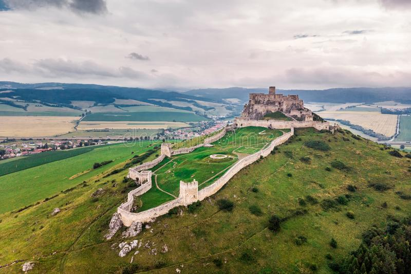 Spis castle slovakia royalty free stock photography