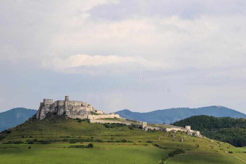 The Spis Castle Spissky hrad. Famous National Cultural Monument in Slovakia. UNESCO heritage royalty free stock photography