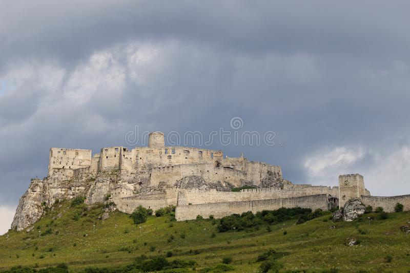 The Spis Castle Spissky hrad. Famous National Cultural Monument in Slovakia. UNESCO heritage.  stock image
