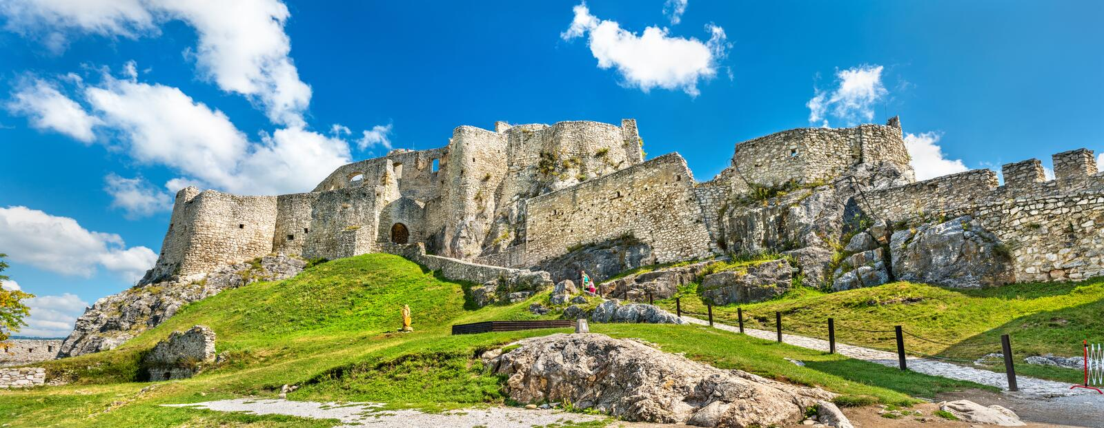Spis Castle, a UNESCO world heritage site in Slovakia stock image
