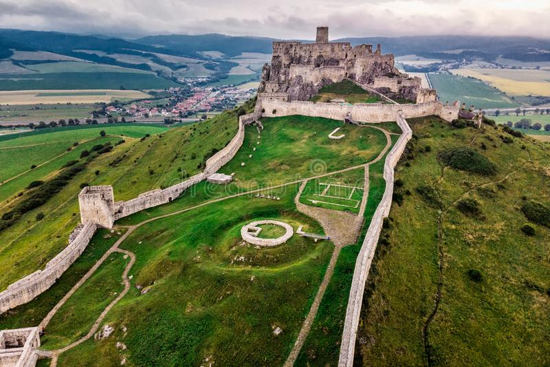 Spis slott Slovakien royaltyfri fotografi