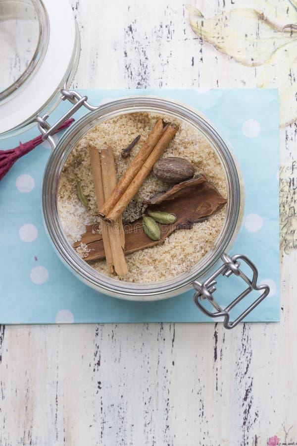 Spised bruine suiker royalty-vrije stock afbeeldingen