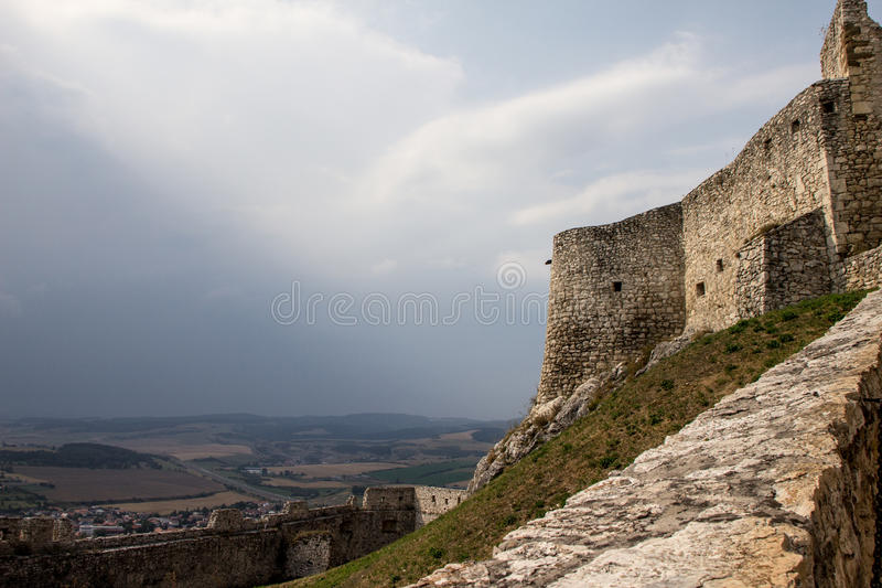Spiski Hrad Castle stock photo