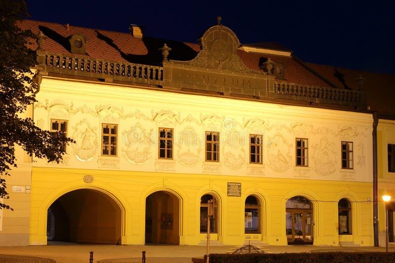 Spisska新星的Ves,斯洛伐克博物馆 免版税库存照片