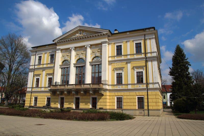 Spisska新星的Ves,斯洛伐克城镇厅 库存图片