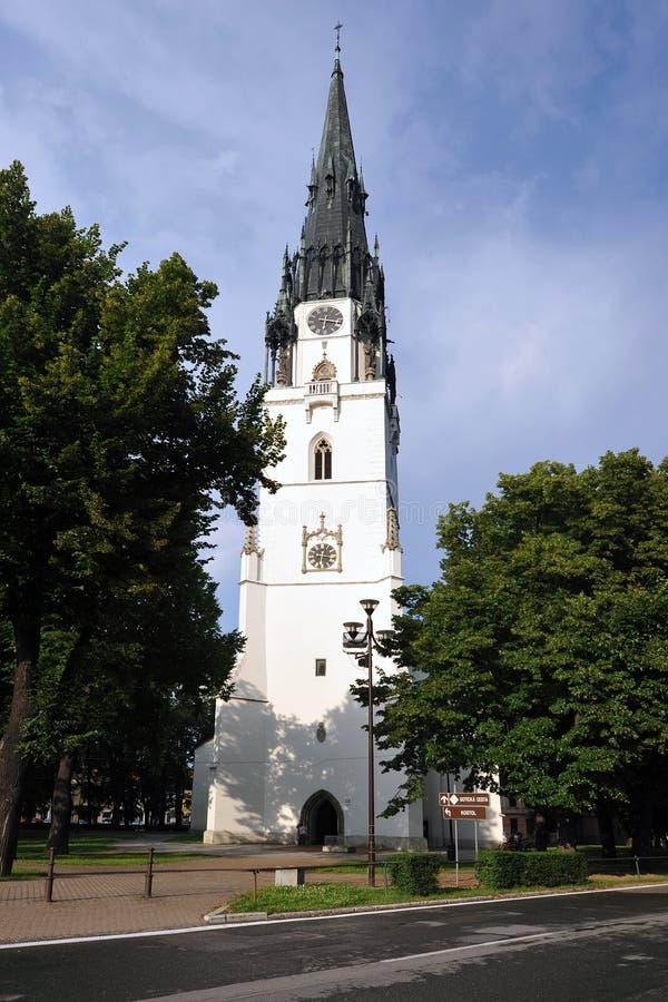 Spisska新星的Ves,斯洛伐克教会 免版税图库摄影