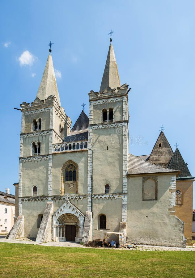Spisska Kapitula, Slovakia. 11 AUGUST 2015 St Martin`s Cathedral. Spisská Kapitula is a cathedral in Slovakia. It is located in the town of Spisska Kapitula royalty free stock photos