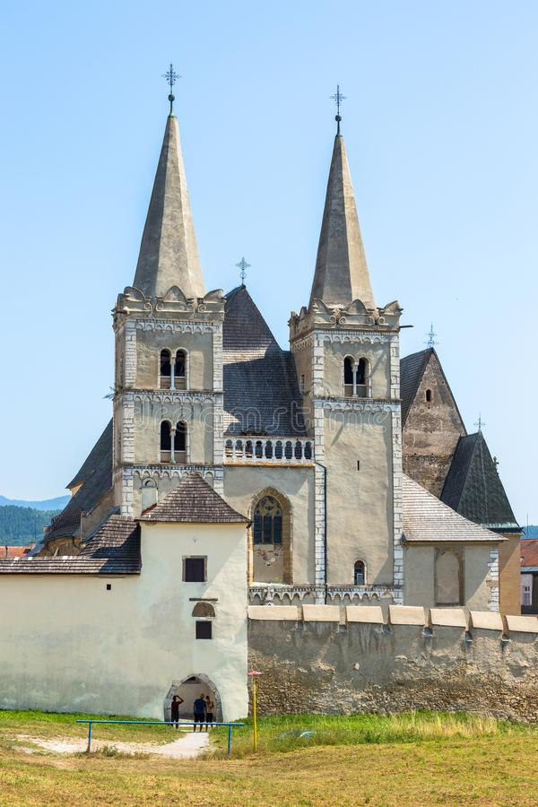Spisska Kapitula, Slovakia. 11 AUGUST 2015 St Martin`s Cathedral. Spisská Kapitula is a cathedral in Slovakia. It is located in the town of Spisska Kapitula royalty free stock images
