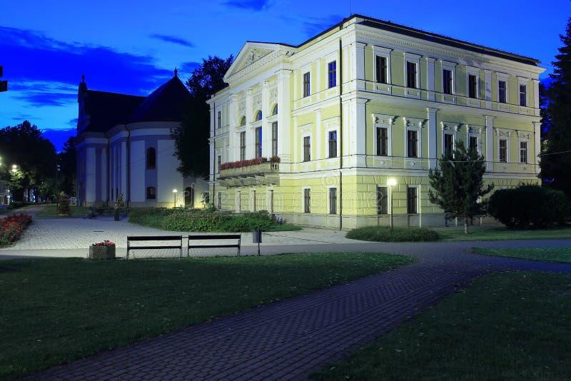 Spisska Nova Ves em Eslováquia fotografia de stock royalty free