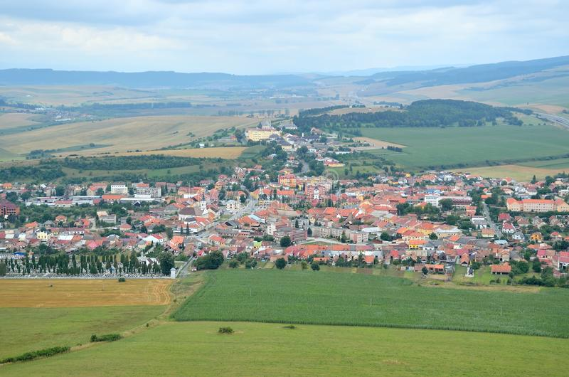 Spisske Podhradie Town. View from Spissky Hrad Castle on a Spisske Podhradie Town in Slovakia stock photography