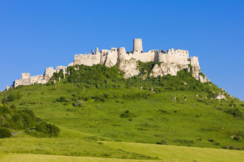 Spissky Castle, Slovakia. Outdoor, outdoors, outside, exterior, exteriors, europe, central, republic, czechoslovakia, hrad, architecture, old, historic royalty free stock image