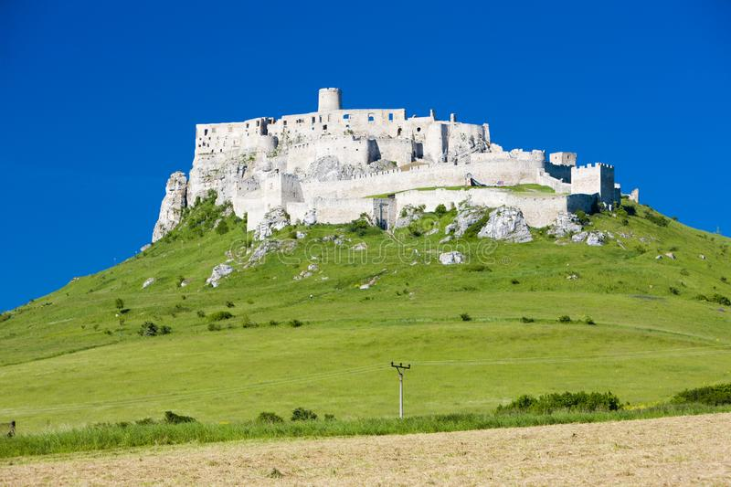 Spissky Castle, Slovakia. Outdoor, outdoors, outside, exterior, exteriors, europe, central, republic, czechoslovakia, hrad, architecture, old, historic stock photo