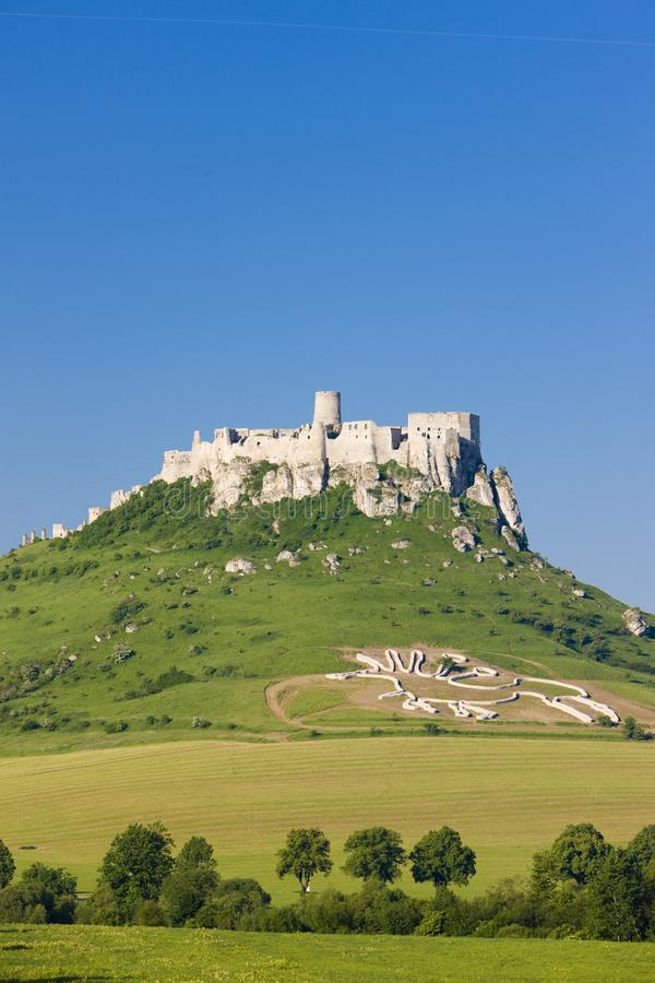 Spissky Castle, Slovakia. Outdoor, outdoors, outside, exterior, exteriors, europe, central, republic, czechoslovakia, hrad, architecture, old, historic stock images