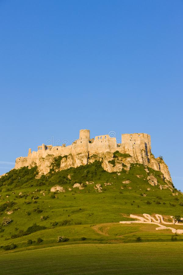 Spissky Castle, Slovakia. Outdoor, outdoors, outside, exterior, exteriors, europe, central, republic, czechoslovakia, hrad, architecture, old, historic royalty free stock images