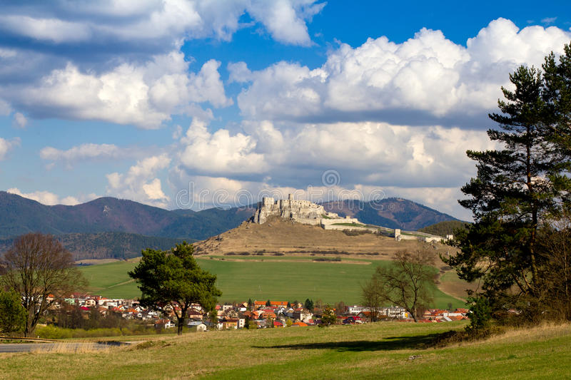 Spissky castle in Slovakia royalty free stock photos