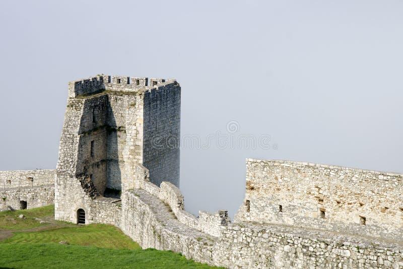 Spissky hrad castle royalty free stock photo