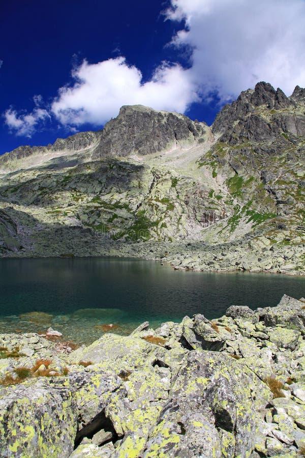 5 Spisskych-vouwen - Tarns In Hoge Tatras, Slowakije Stock Afbeeldingen