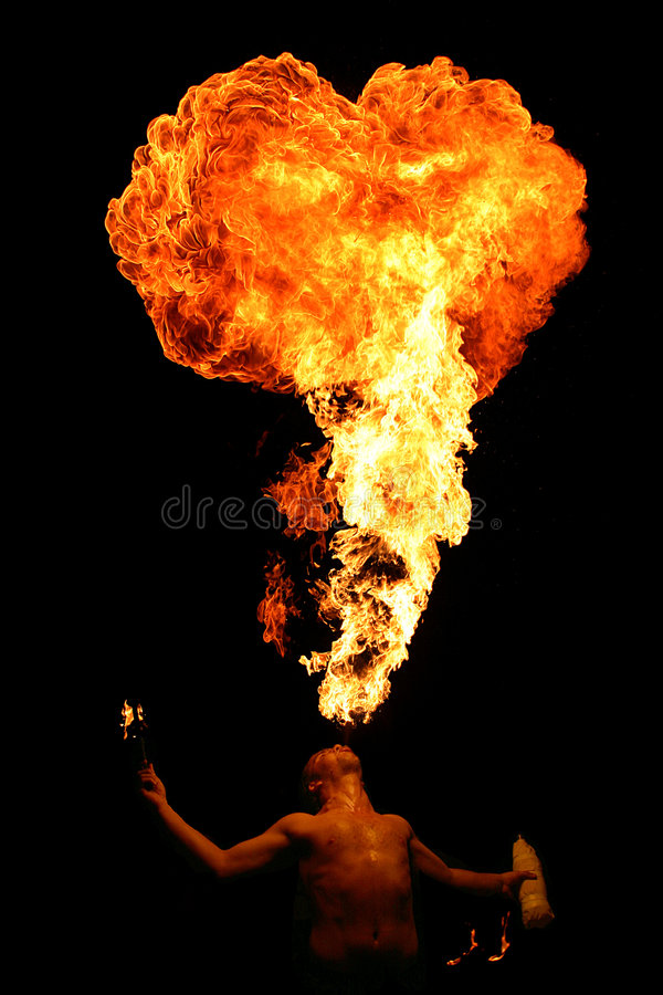 Spit fire royalty free stock images